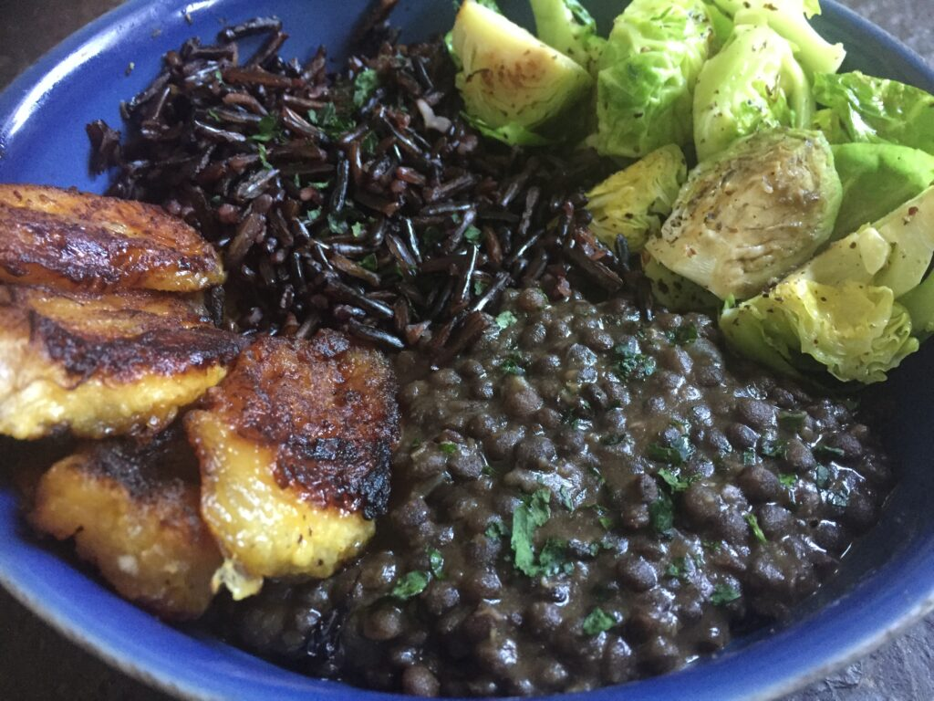 Lunch bowl caribbean style wild rice and black lentils vegan fit check the cupboards and many plant based eaters and im sure you will find these lovely staplesperhaps in a variety of colors but what makes this combo forumfinder Gallery